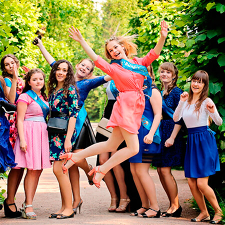 Выпускной в школе в Казани