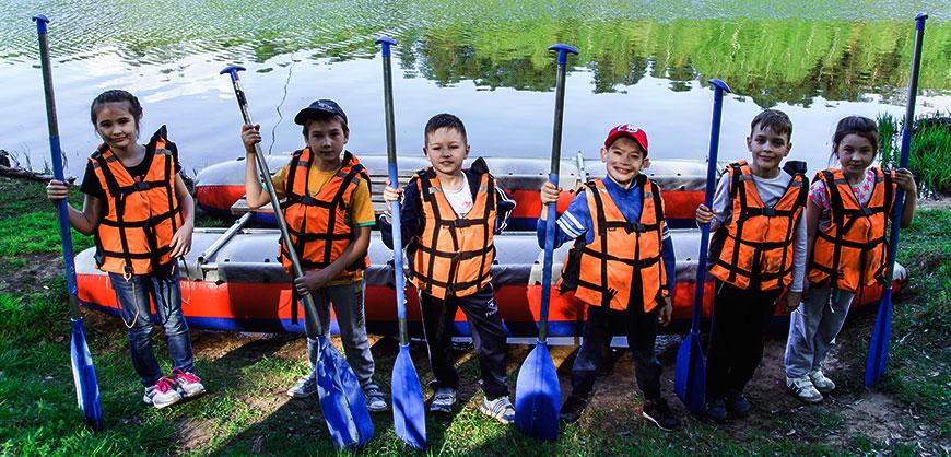 Сплав по реке для детей